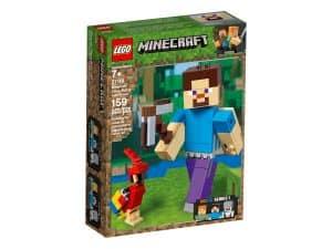 lego 21148 bigfig steve mit papagei