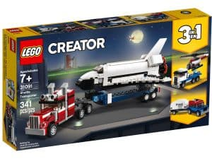 lego 31091 transporter fur space shuttle