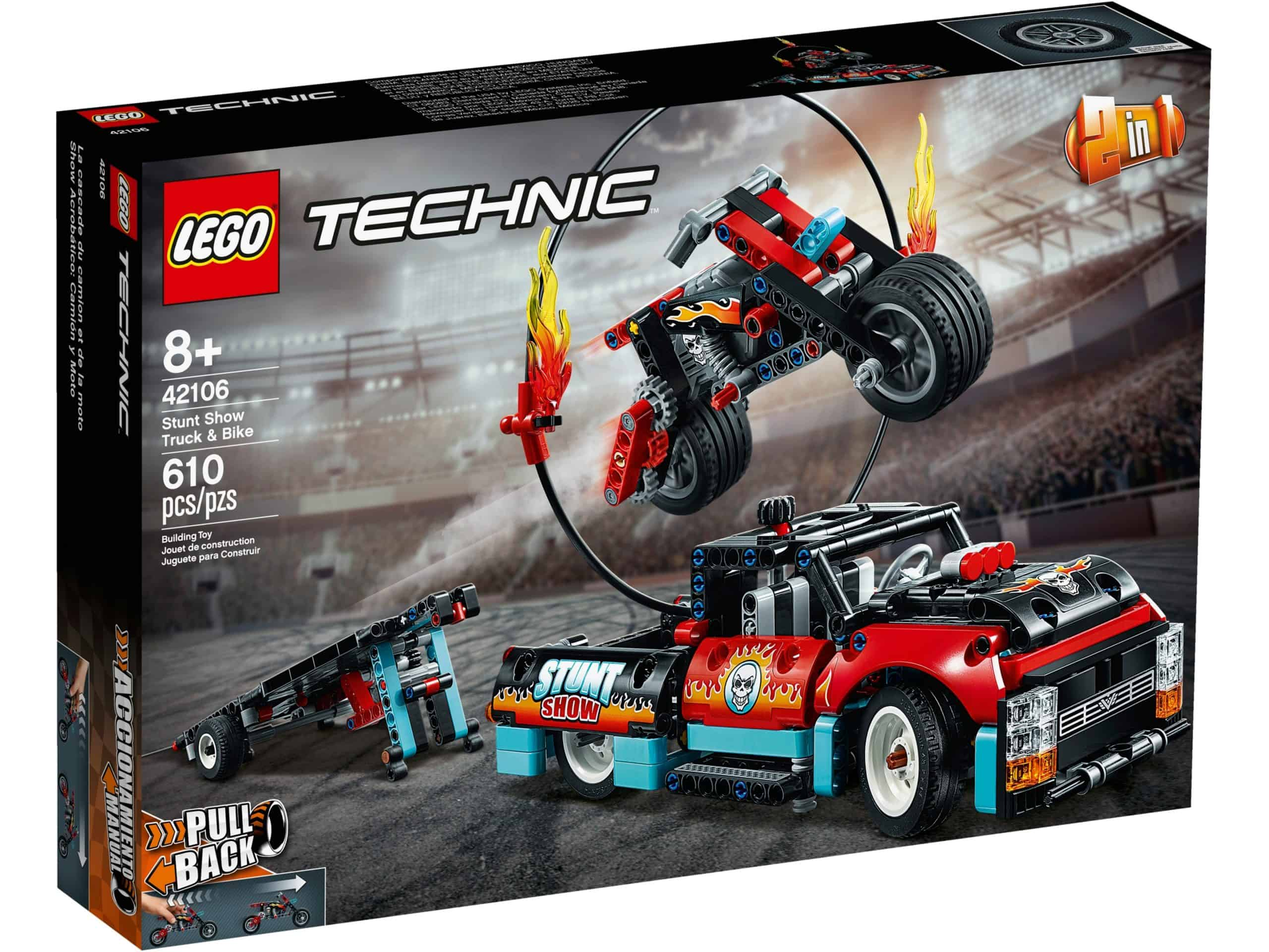 lego 42106 stunt show mit truck und motorrad scaled