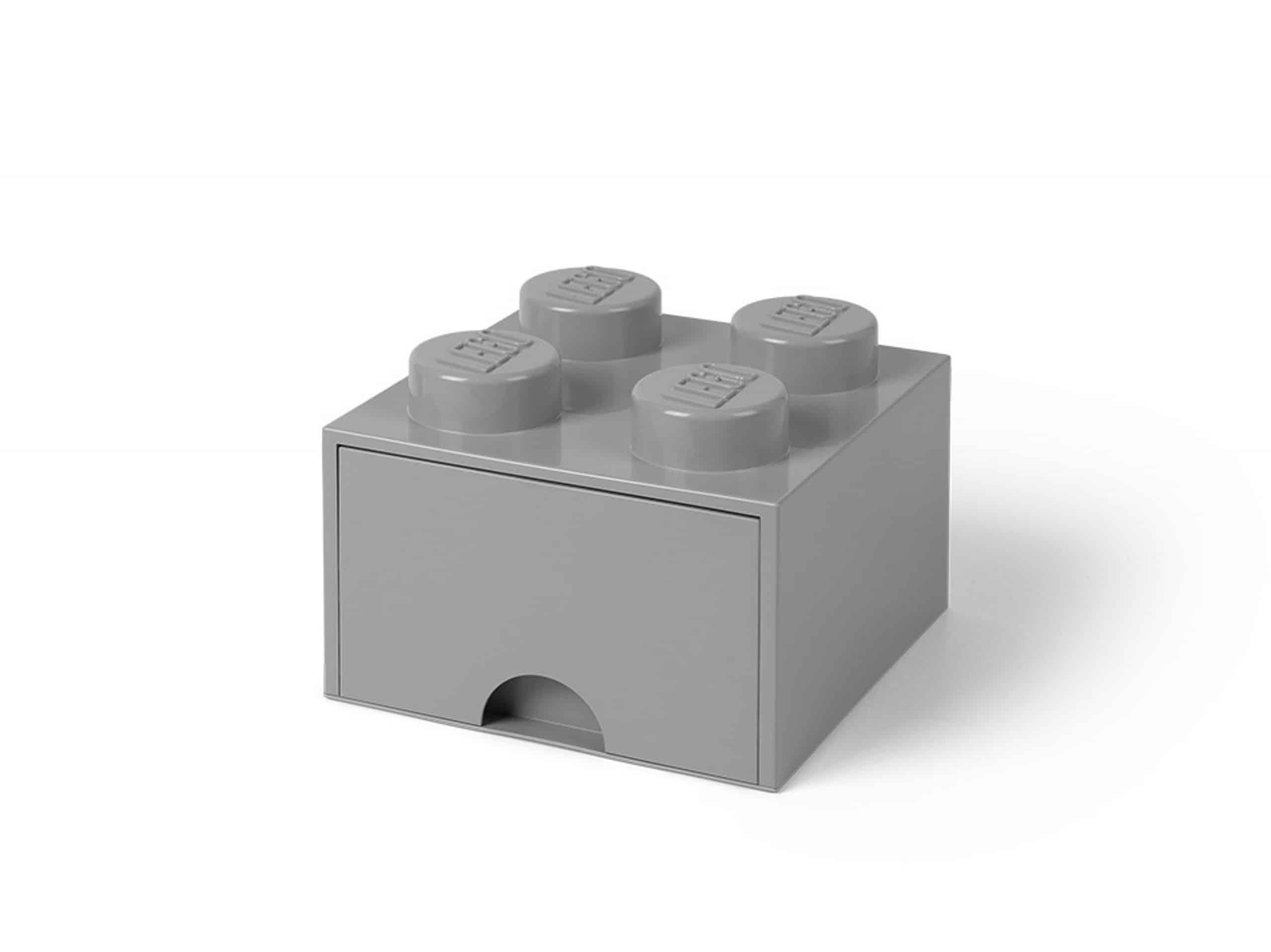 lego 5005713 mittelgroser aufbewahrungsstein mit 4 noppen und schubfach in steingrau scaled