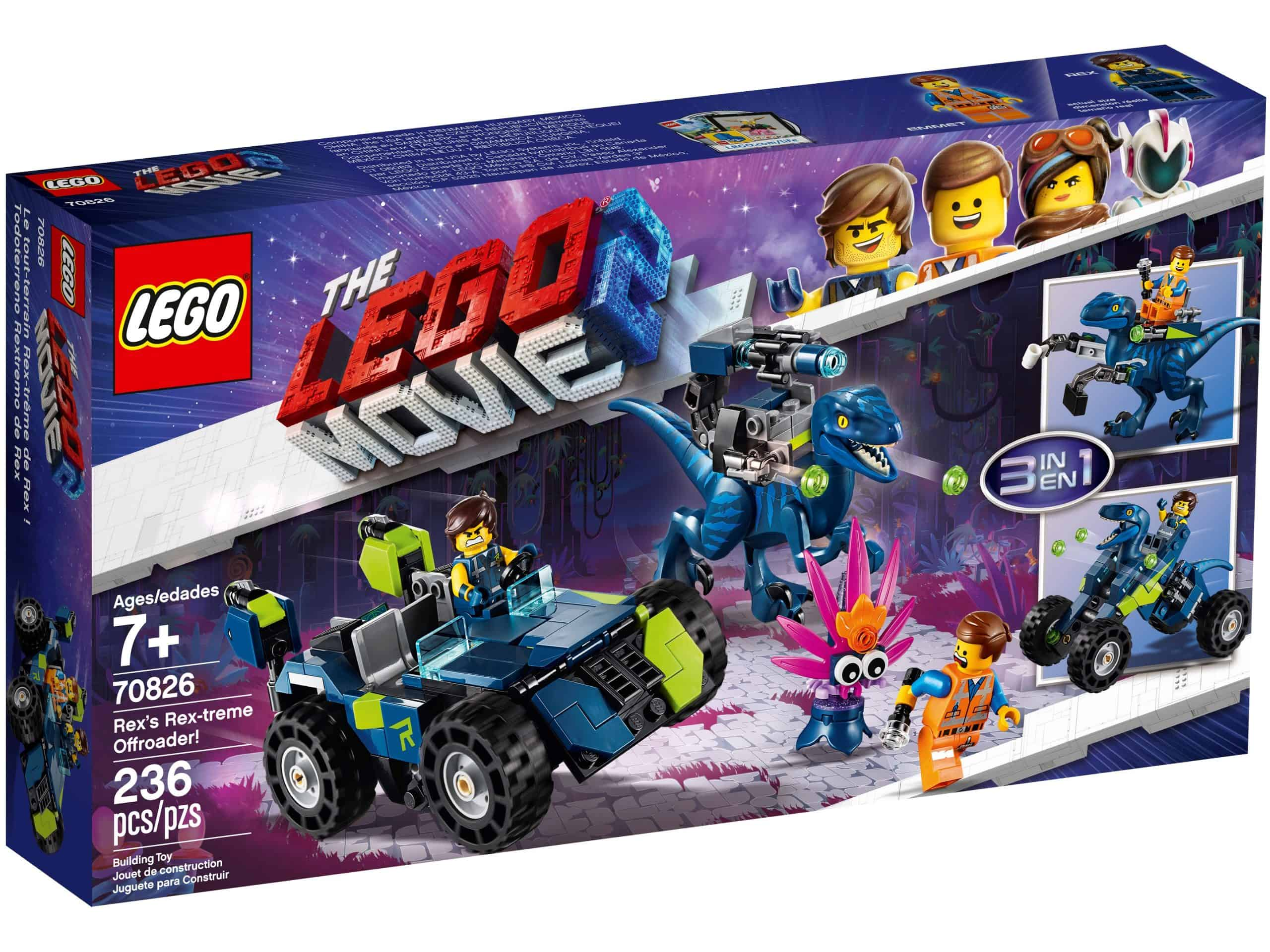 lego 70826 rex rextremes offroad fahrzeug scaled