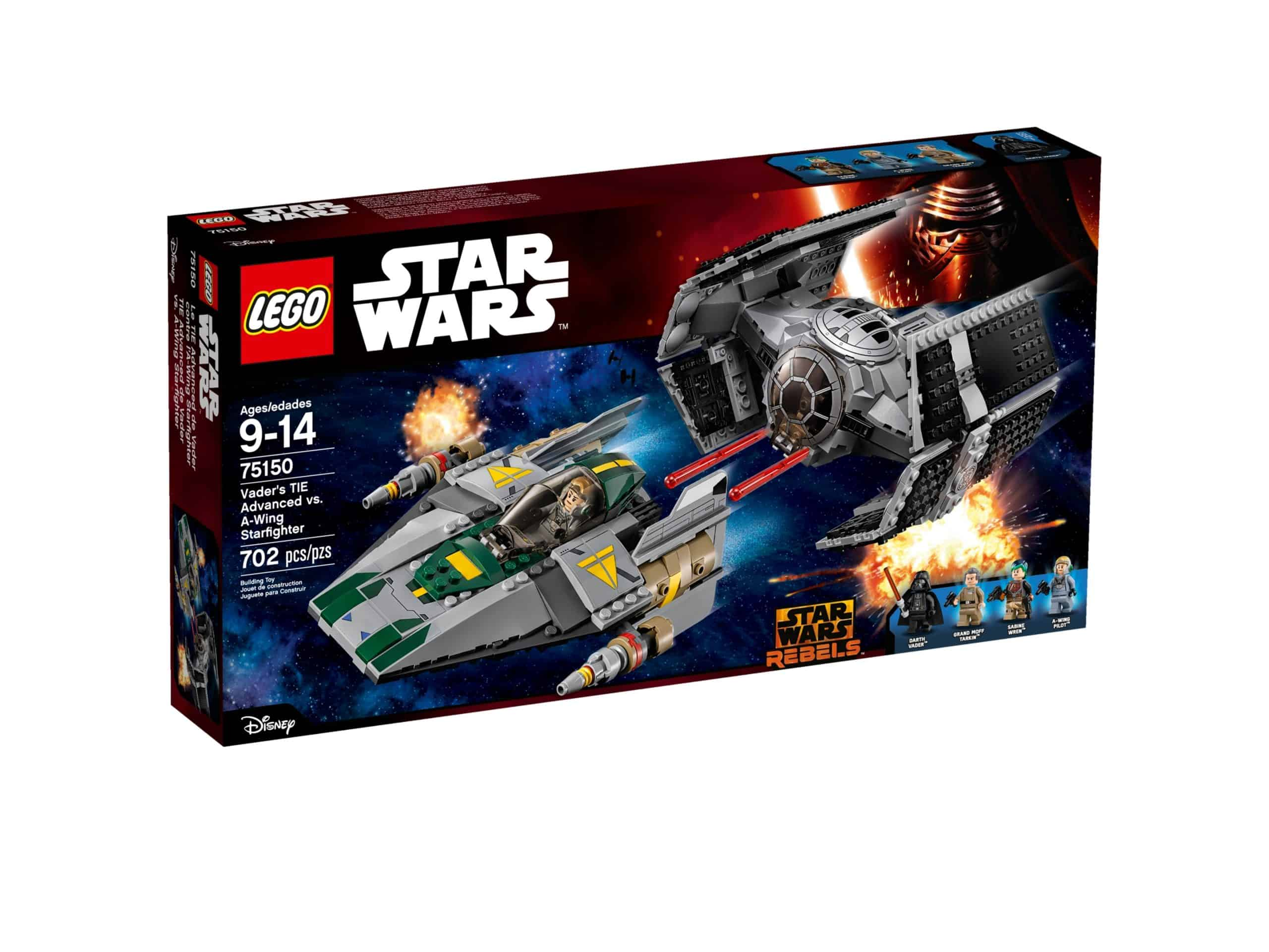 lego 75150 vaders tie advanced vs a wing starfighter scaled