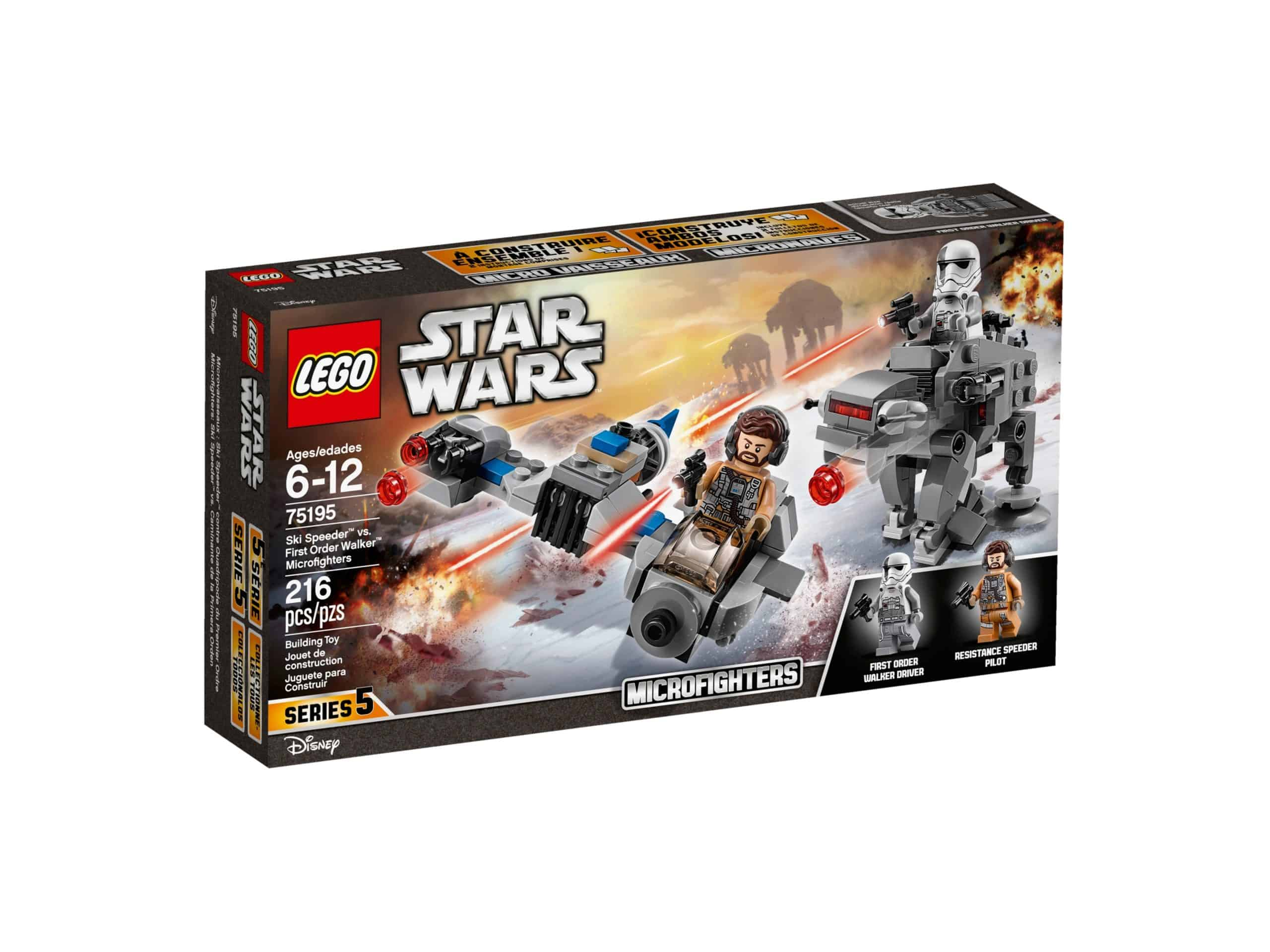 lego 75195 ski speeder vs first order walker microfighters scaled