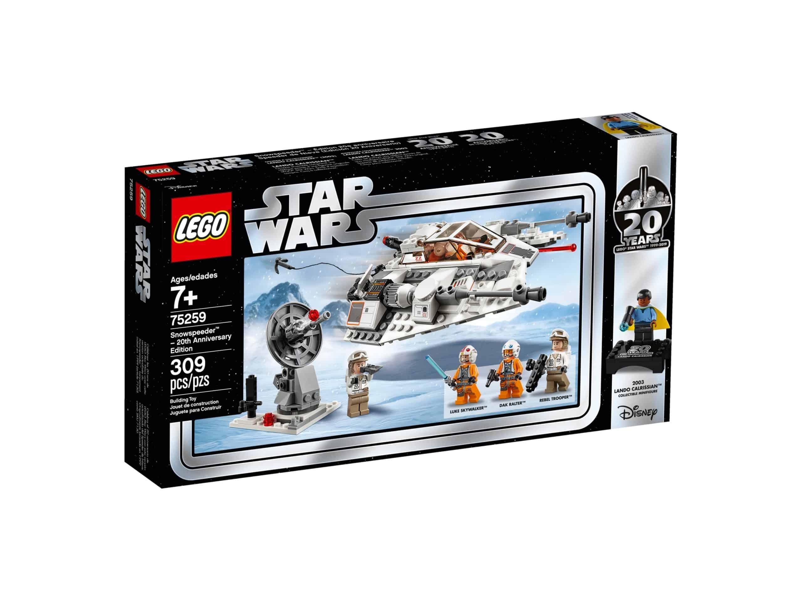 snowspeeder 20 jahre lego 75259 star wars scaled