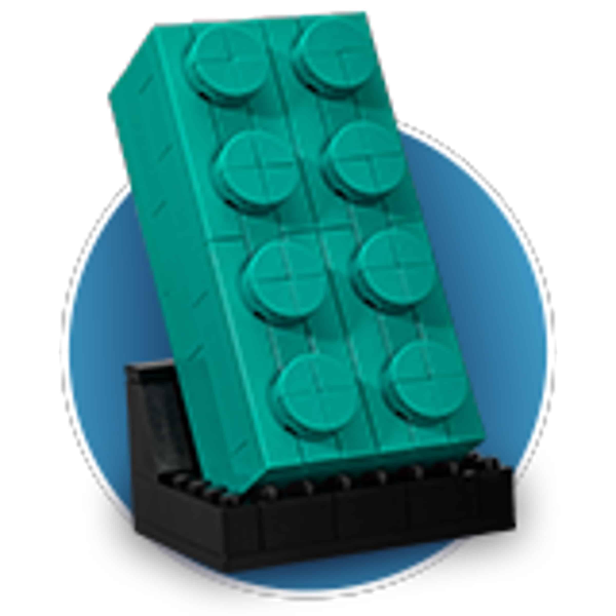 lego 5006291 2x4 teal brick