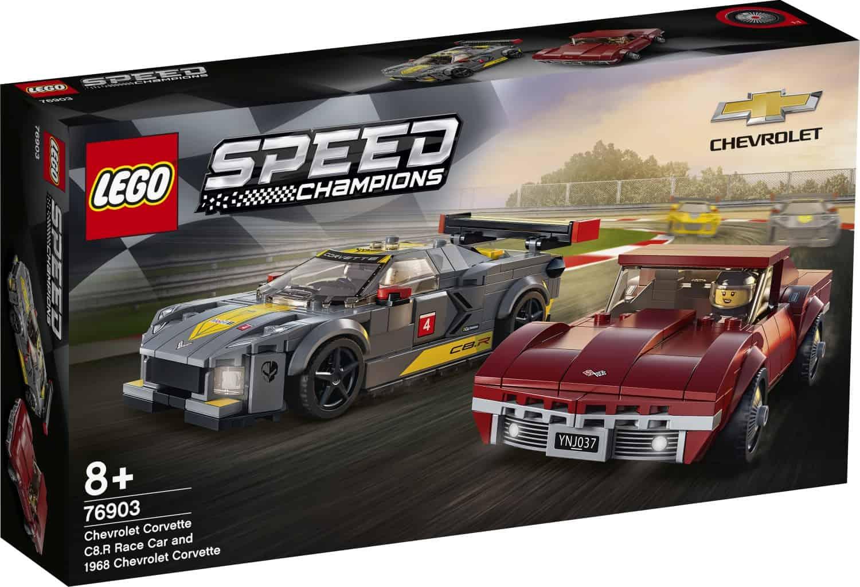 LEGO 76903 Chevrolet Corvette C8-R & 1968 C3 - 20210502