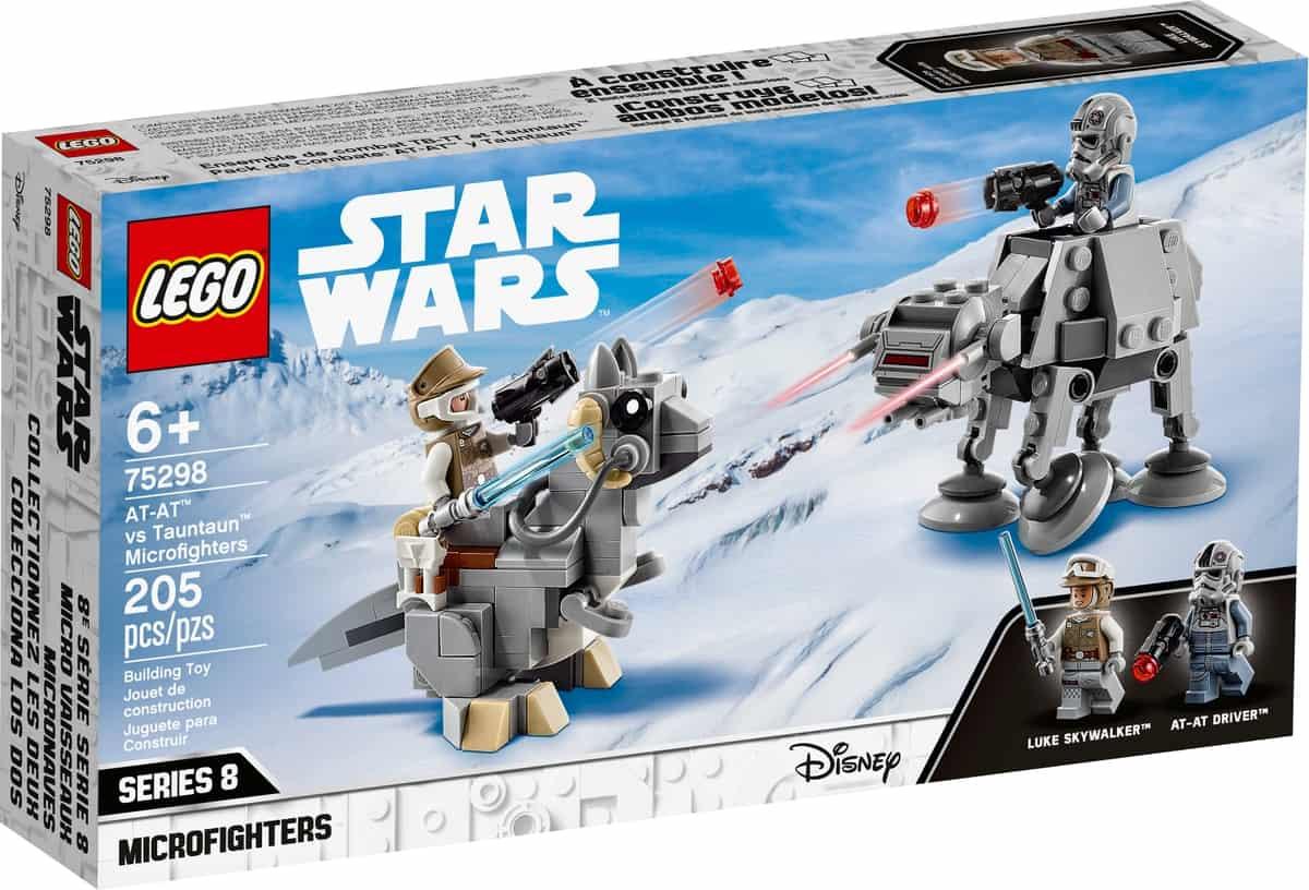 lego 75298 at at vs tauntaun microfighters