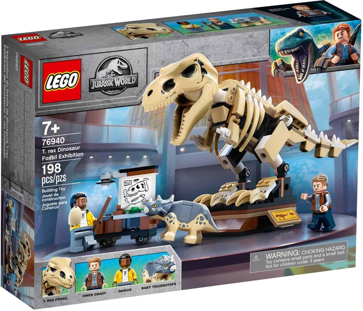 lego 76940 t rex skelett in der fossilienausstellung