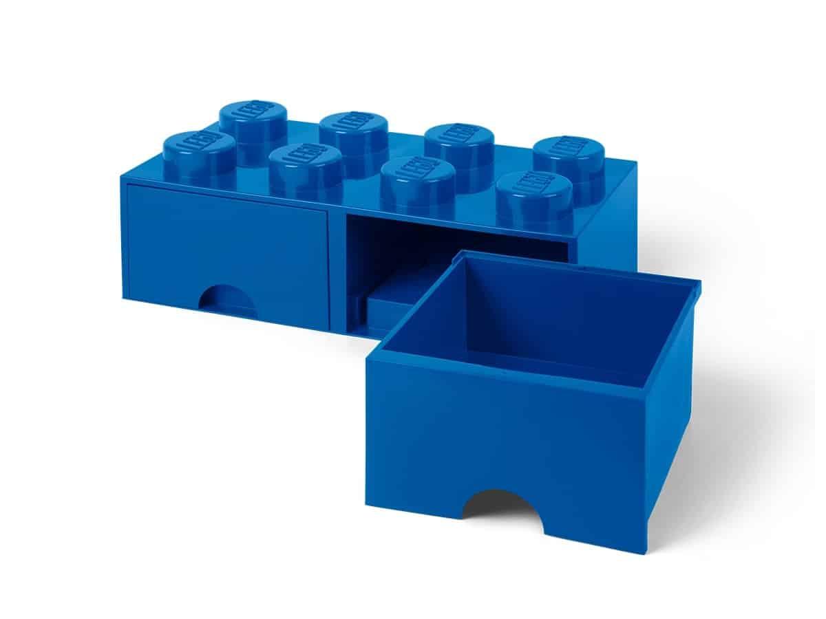lego 5006143 aufbewahrungsstein mit schubfchern und 8 noppen in blau